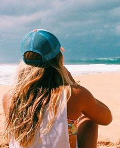 beach trucker hat
