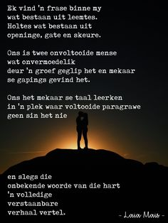 ter wille van 'n nagedagtenis Afrikaans Quotes, Good Morning Love, High Five, Van, Poetry, Sentences, Good Morning My Love, Vans, Poems