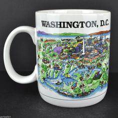 Washington DC Harvey Hutter A View of the World Coffee Mug Tea Cup CityMugs
