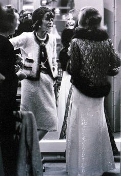Coco Chanel with Romy Schneider, photo by Milton Greene, Paris, 1963