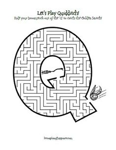 Q is for Quidditch Maze free printable