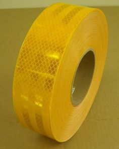 "Safe Way Traction 2"" x 150' Roll 3M Diamond Grade Conspicuity School Bus Yellow Reflective Safety Tape 983-71ES"