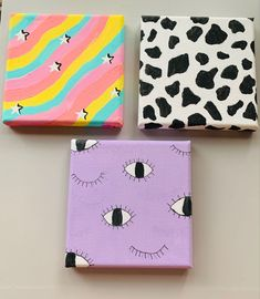 Small Canvas Paintings, Easy Canvas Art, Small Canvas Art, Cute Paintings, Mini Canvas Art, Ideas For Canvas Painting, College Canvas Paintings, Disney Canvas Art, Hippie Painting