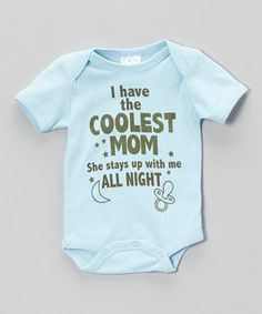 Love this Mon Cheri Baby Blue 'Coolest Mom' Bodysuit - Infant by Mon Cheri Baby on #zulily! #zulilyfinds