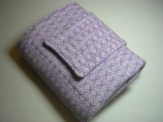 Purple Floral Flannel & PUL Travel Diaper Changing Pad by TwirlyGirlyCouture, $20.00