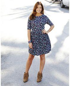 Flower Print Jersey Dress
