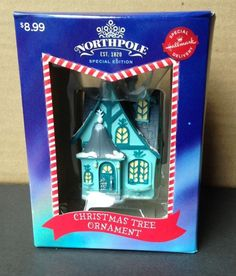 2014 Hallmark Northpole 1820 Special Edition Christmas Tree Ornament HOUSE