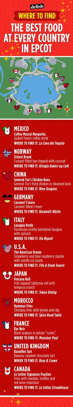 best food in each country in epcot. disney world