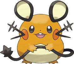 The round shape of Dedenne makes this Fairy-type Pokémon instantly recognizable. Dedenne has the Cheek Pouch Ability, new to Pokémon X and Pokémon Y. If a Pokémon with this Ability eats a Berry during battle, it will not only reap the usual benefits of that Berry, but will also be able to regain HP.  By emitting radio waves from its antenna-shaped whiskers, it can communicate with far-off allies.