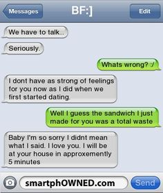 Funniest dating messages