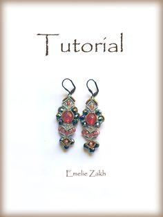 Items similar to Earrings micromacrame tutorial pattern.e PDF file micro macrame earrings. on Etsy Crochet Jewelry Patterns, Macrame Patterns, Beading Patterns, Tatting Jewelry, Seed Bead Jewelry, Beading Jewelry, Jewelry Kits, Jewelry Crafts, Wedding Gifts For Women