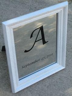 Monogrammed Mirror (Baby Gift)