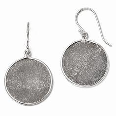 Leslie's Sterling Silver Ruthenium-plated Shepherd Hook Earrings