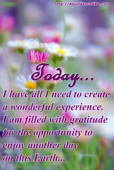 Today, I feel abundant and I'm ready for this great day! #abundance4me #affirmations #life #positive
