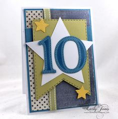 Inspired to Stamp: Happy 10th Birthday!