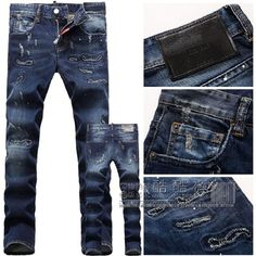 Find More Jeans Information about Hot! 2015 winter Fashion Brand Men's Jeans Casual classic Hole popular jeans dark color skinny ripped jeans cheap Free shipping,High Quality jeans children,China jean chain Suppliers, Cheap jeans blue from H&T  --  HOT AND TOP JEAN on Aliexpress.com