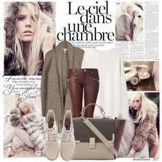 Cozy autumn by malbina-82 on Polyvore featuring Base Range, Joie, Hallhuber, Dune, SOREL and Ciel