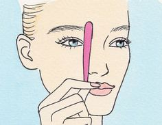 Locate Your Starting Points http://www.womenshealthmag.com/beauty/pluck-eyebrows?slide=1
