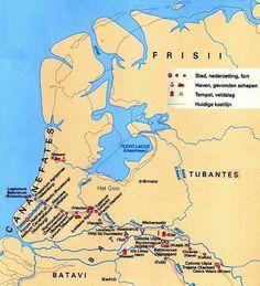 Romeinse castella langs Rijn en Maas Het grootste castellum is Noviomagum (Nijmegen). Binnen de muren staan grote barakken en er wonen vele duizenden soldaten.