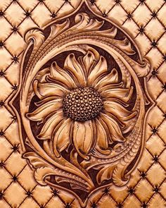 Sunflower Pattern Pack leather work tooling designs | Etsy