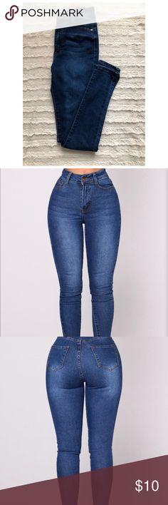 ea3888c247585 FASHION NOVA High Waisted Jeans Super high waisted medium wash jeans! These  are super cute