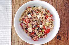 Ensalada Griega de Quinoa | Concucharaytenedor | Blog cocina