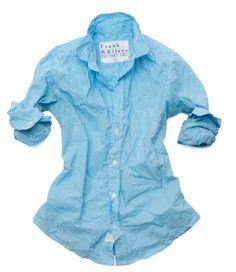 Women's BARRY classic Frank & Eileen shirt in a cool blue @ lagunasupply