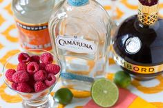 Celebrate Cinco de Mayo with a fiesta-style cocktail that's perfect for a crowd! Sip on Raspberry Lime Margaritas; grab the easy and delish recipe today!