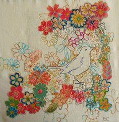 Liz-Cooksey -- bird and flowers