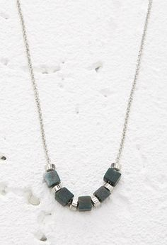 Faux Stone Bead Necklace | Forever 21 - $4