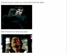 "I know right! I couldn't help thinking that Sherlock had wanted Lestrade's reaction to be John's....... I was like ""You got him back from the dead and now you're trying to kill him yourself!"""