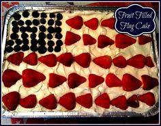Sweet Tea and Cornbread: Fruit Filled Flag Cake!