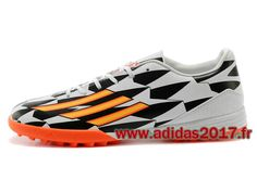 Boutique Homme Adidas Soccer Launch AdiZero F50 Crazylight TF Messis Blanc Orange