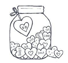 Valentine\'s Day Coloring Pages eBook: Hearts in a Jar | VALENTINES ...