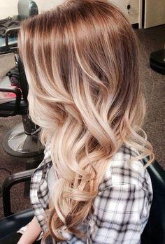 Bohemian blonde ombre