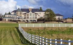 A piece of pristine countryside in Lambertville, New Jersey, encompasses nearly 127 scenic Hopewell Township acres. This magnificent estate boasts fabulous finishes and an array of amenities.  $9,975,000 USD