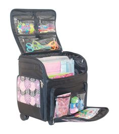 This is what I need to keep all the Girl Scout stuff organized.   Mary Rolling Scrapbook Purple Pink Tote