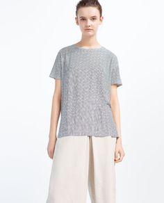 STRIPED PRINT T-SHIRT from Zara