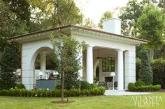 With its classic lines, an outdoor room in the Italianate style is the ultimate getaway on the lush grounds of a Buckhead residence.