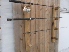 Fishing Pole Holder, Natural Driftwood fishing pole rack, Fly Fishing Rod display - Holds 4 fishing rods - Adjustable -  fits any pole by Driftinn on Etsy