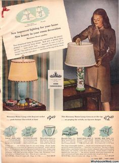 1946 Sears Christmas Book House Lamp, Turn Light, Diffused Light, Christmas Books, Room Lights, Lamp Design, House Colors, Living Rooms, Vintage