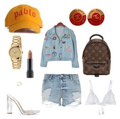 """""""Untitled #103"""" by styledbytine on Polyvore featuring Chanel, Louis Vuitton, Chicnova Fashion, Bite, Topshop, Cosabella and Gucci"""