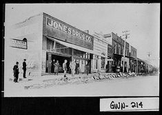 Photograph of several downtown buildings, Lawrenceville, Gwinnett County, Georgia, 1925