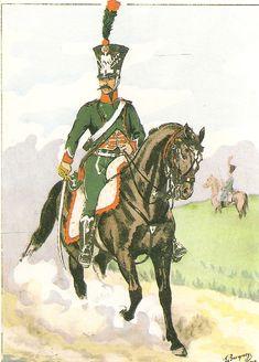 French; 1st Hussars, Marechal des Logis, 1812
