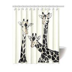 "Casey Rogers Giraffe Color Bathroom Shower Curtain Rideau de douche 65/"""