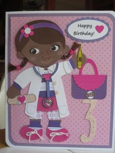 Doc McStuffins Punch Art Birthday