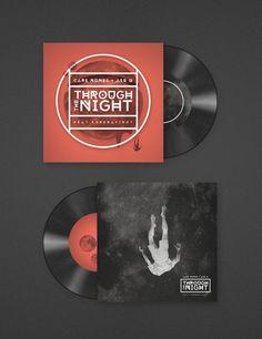 "Carl Nunes + Ale Q ""Through The Night"" Single Cover by Jorge Letona, via Behance"