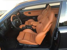 BMW E36 coupe interior: Leather Vader seats