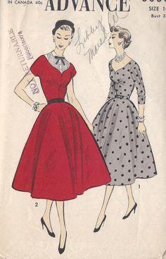 Vintage 1950's Misses ' Dress Pattern by CottageLaneTreasures, $16.00