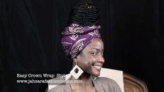 Easy Crown Wrap demo #headwraptutorial #headwrap